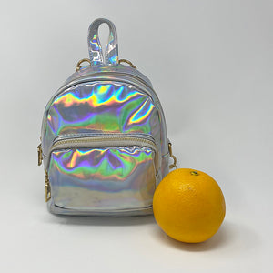 Holographic Convertible Crossbody Backpack (Mini) - Unicornabilia