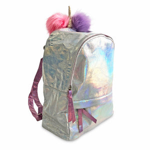 Iridescent Unicorn Pompom Backpack - Unicornabilia