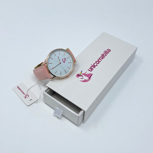 Pink Vegan Leather Watch