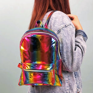 Rainbow Chrome Backpack - Unicornabilia