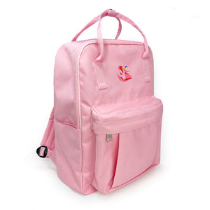 Pink Canvas Backpack