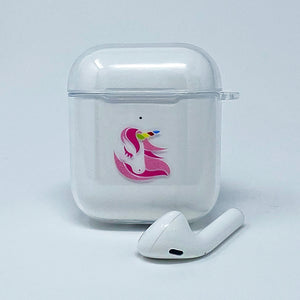 Clear Soft Unicorn AirPods Case Cover - Unicornabilia