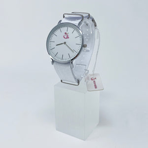 White Nylon Strap Watch