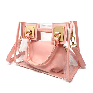 Clear Handbag with Removable Strap - Unicornabilia