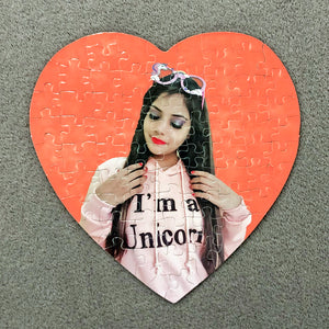Customized Jigsaw Puzzle (Heart Shaped) - Unicornabilia