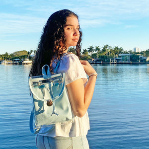 Clear & Blue Backpack Purse - Unicornabilia