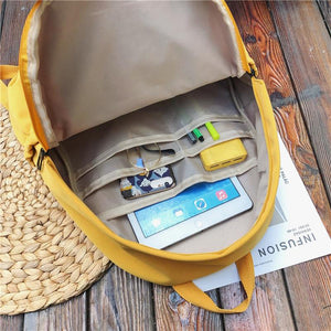 Lots of Pockets Backpack - Yellow - Unicornabilia