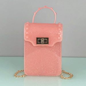 Glittery Translucent Crossbody Bag - Unicornabilia