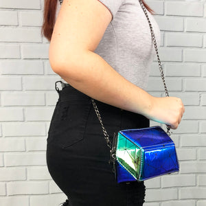 Shiny Geometric Crossbody Bag - Unicornabilia