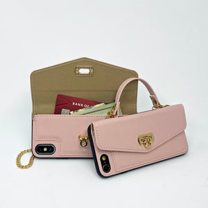 Pink Purse Wallet Case for iPhone