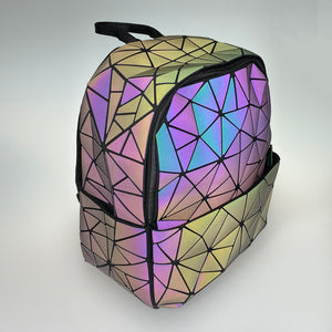 Holographic Backpack (Reflective Matte Black) - Unicornabilia