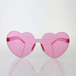 Rimless Heart-Shaped Sunglasses - Unicornabilia