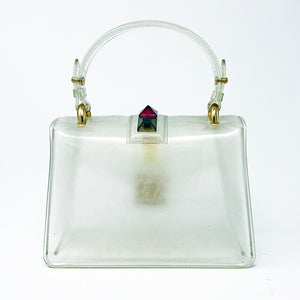 Clear Rainbow Stud Handbag - Unicornabilia