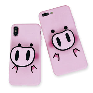 Pig Nose Pop Socket Phone Case - Unicornabilia