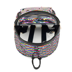 Rainbow Sequin Clear Backpack - Unicornabilia