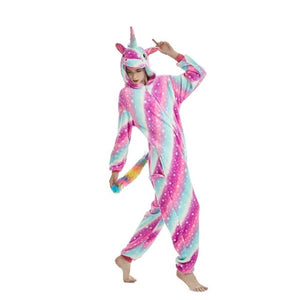 Striped Pink Galaxy Unicorn Onesie - Unicornabilia