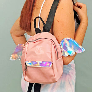 Iridescent Wings Pink Mini Backpack - Unicornabilia