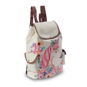 Floral Unicorn Backpack - Unicornabilia