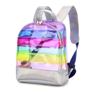Clear Rainbow Striped Backpack - Unicornabilia