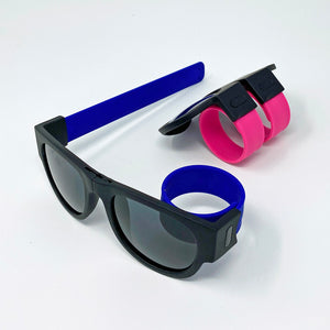 Slap Bracelet Folding Sunglasses - Unicornabilia