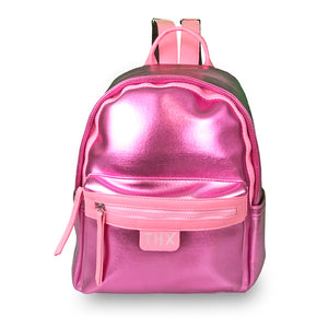 Faux Leather Metallic Backpack - Unicornabilia