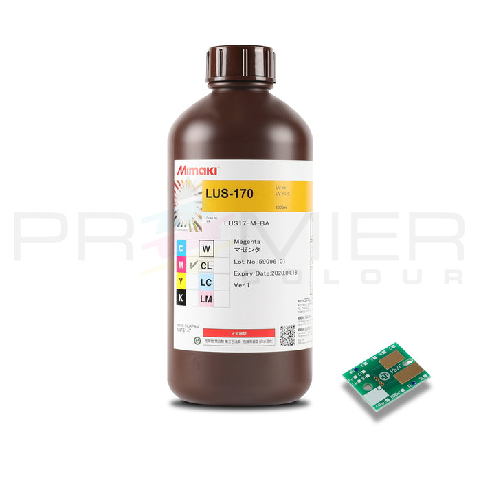 OEM MIMAKI LUS-170 UV CURABLE INK, 1L BOTTLE