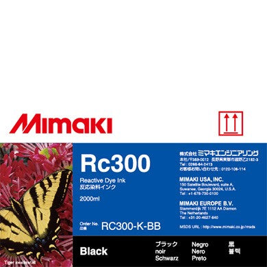 Mimaki RC300 Reactive Ink for Tiger 1800, TX300P, TS500 (2000ml)