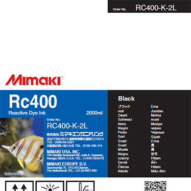 Mimaki RC400 Reactive Ink for Tiger 1800, TX300P, TS500 (2000ml)