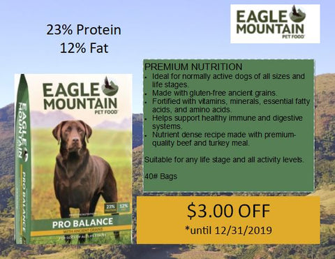 eagle mountain pet food sale in store