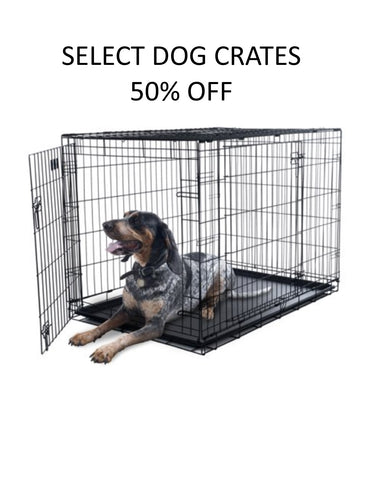 dog crates on sale in store