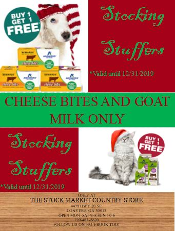 cheese bites and goat milk sale in store