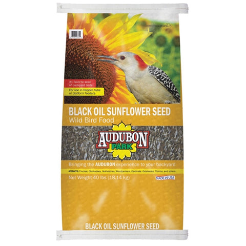 Audubon Park Black Oil Sunflower Seed Wild Bird Food