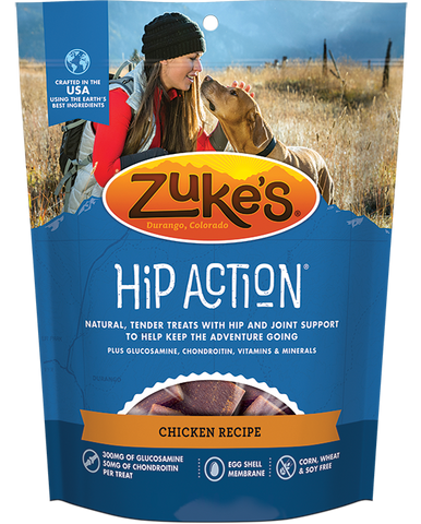 Zukes Hip Action Chicken Dog Treats with Glucosamine and Chondroitin