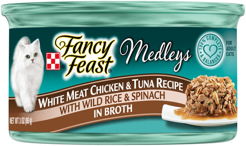 Fancy Feast Medleys White Meat Chicken & Tuna Recipe Canned Cat Food