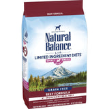 Natural Balance L.I.D. Limited Ingredient Diets Grain Free Beef Recipe, Small Breed Bites Dry Dog Food
