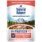 Natural Balance L.I.D. Limited Ingredient Diets High Protein Whitefish in Broth Pouch Wet Cat Food