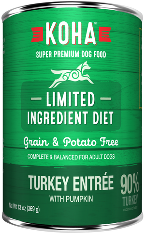 KOHA Grain & Potato Free Limited Ingredient Diet Turkey Entree with Pumpkin Canned Dog Food