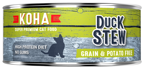 KOHA Grain & Potato Free Duck Stew Canned Cat Food