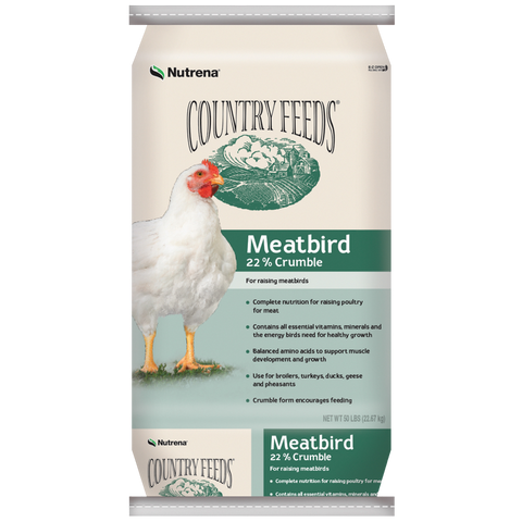 Country Feeds Meatbird 22% Crumbles