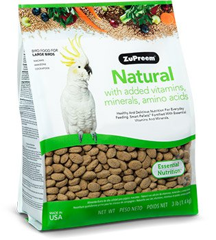 Natural with Added Vitamins, Minerals, Amino Acids For LARGE BIRDS