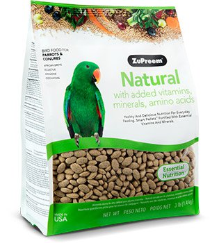 Natural with Added Vitamins, Minerals, Amino Acids For Parrots & Conures