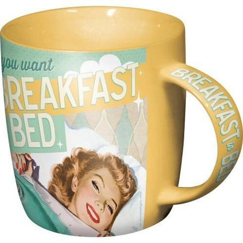 Mugg Retro 'Breakfast In Bed'-Mugg-Inspiri