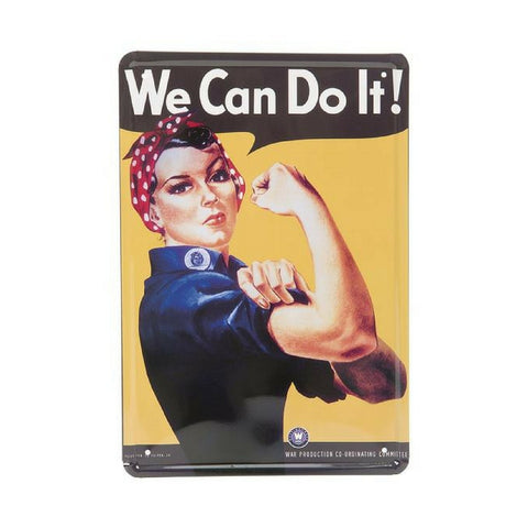 Plåtskylt 'We Can Do It' 20x30CM, Inspiri - Inspiri