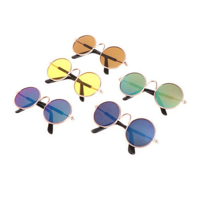 For Dogs Fashion Dog Cat Playing Cool Metal Frame Sunglasses Pet Supplies Eye-Protection Random Color Anti-wear Goods For Pets