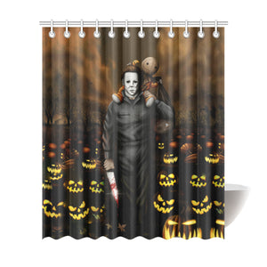 Shower Curtain Tagged Michael Myers Goblin Gadgets