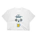 Barbells + Beer - Women's Crop Top