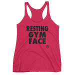 Resting Gym Face - Women's Racerback Tank