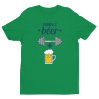 Barbells + Beer - Men's Short Sleeve T-shirt