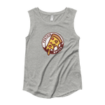 Protein + Pizza - Ladies' Cap Sleeve T-Shirt