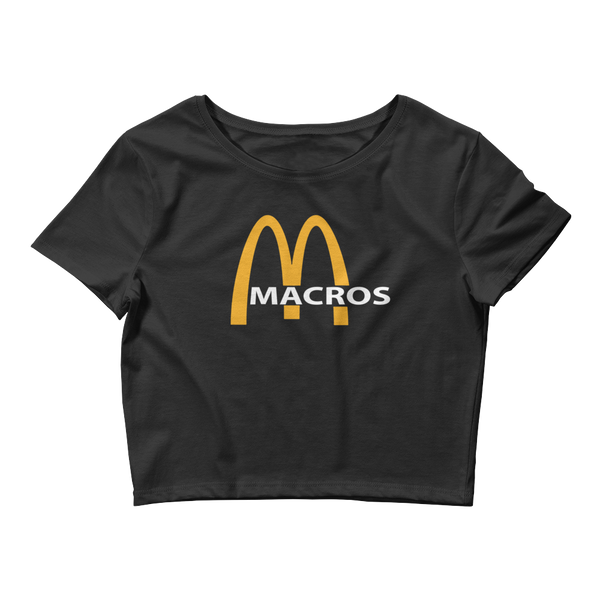 Macros Logo - Women's Crop Top Tee